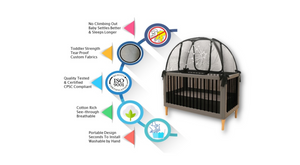 popup baby crib tents to stop babies climbing out
