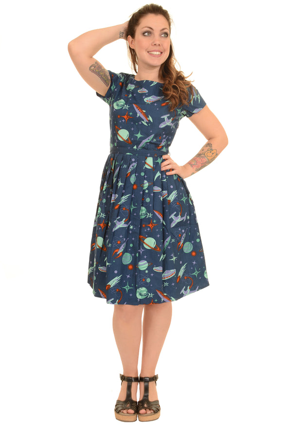 Outer Space Retro Tea Party Dress
