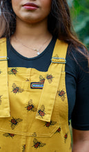 Load image into Gallery viewer, Bees Knees Gold Twill Dungarees