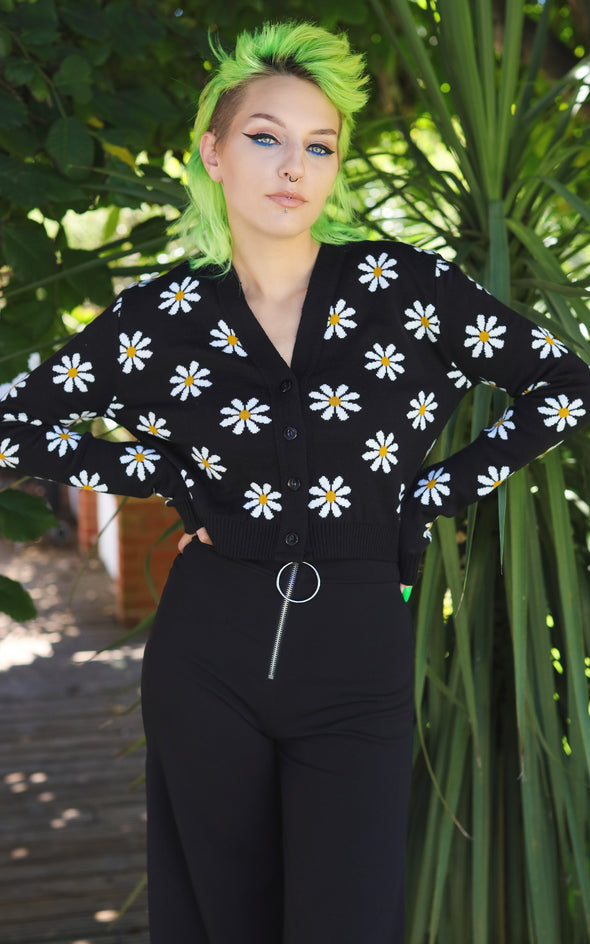 Daisy Chain Back Cropped Cardigan