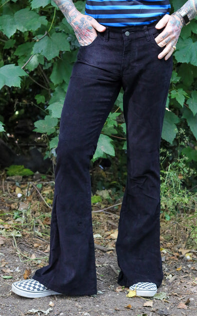 Black Corduroy Bell bottom Super Flares