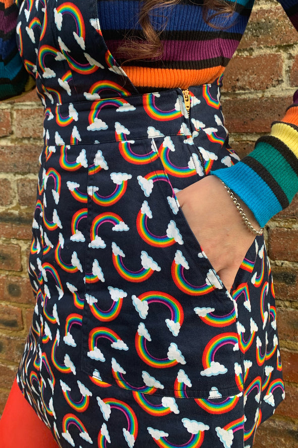 Over The Rainbow Twill Pinafore 🌈