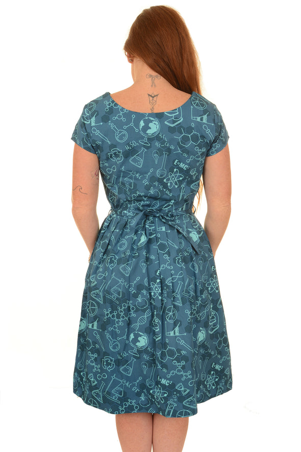 Chemistry Science Lab Printed Dress