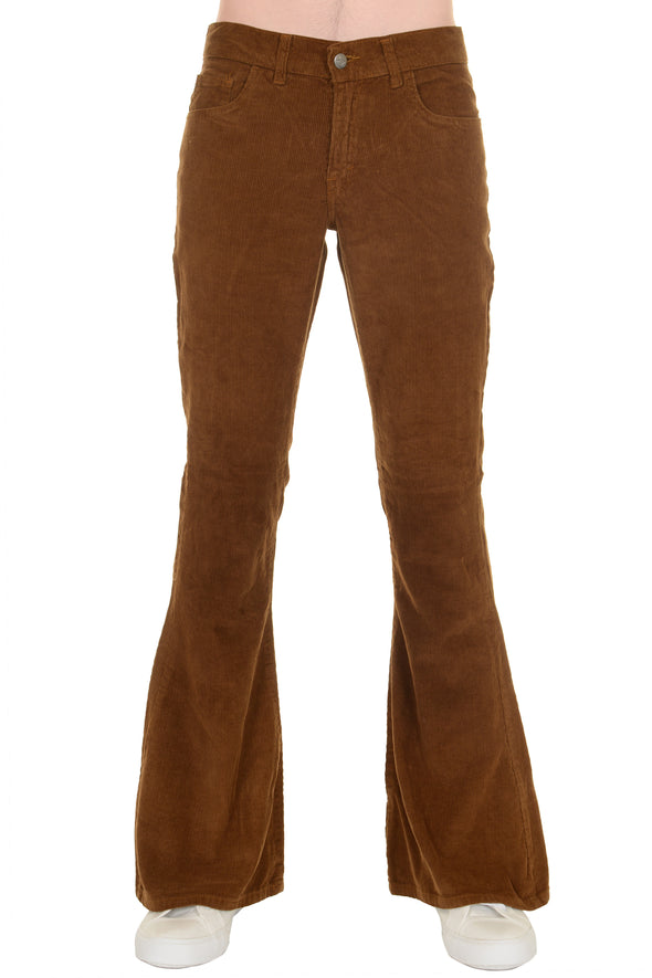 Tobacco Corduroy Bell bottom Trousers Super Flares