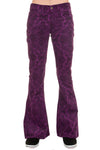 Run & Fly purple paisley corduroy bell bottom flares jeans