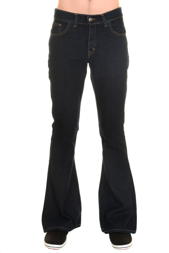 Mens Run & Fly dark denim bell bottom flares jeans