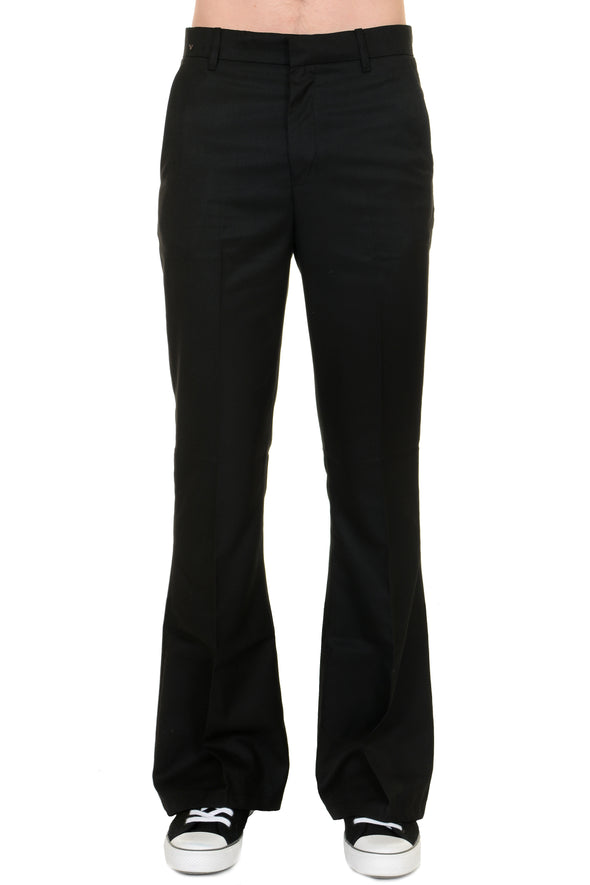 Presley Black Bell Bottom Trousers Slacks