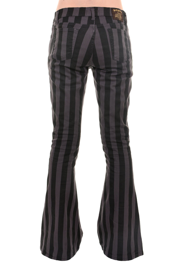 Run & Fly mens unisex striped flares bell bottoms 70's made in England