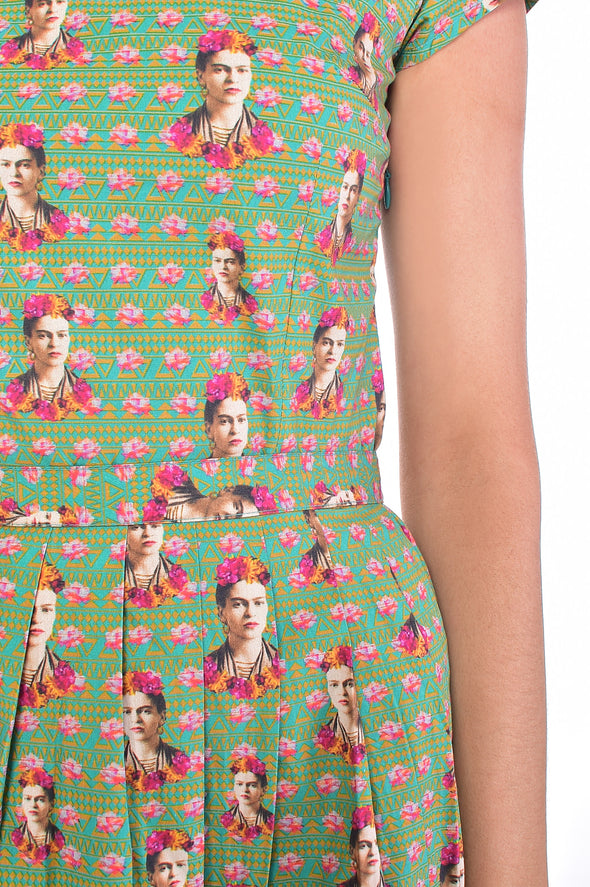 Frida Kahlo Inspired Mexican Floral Dress
