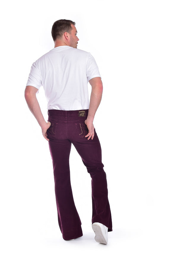 Run & Fly burgundy bell bottoms flares
