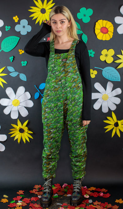 Camo Dinosaur Stretch Twill Dungarees