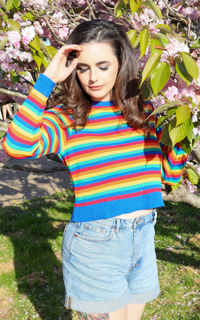 Rainbow Cropped Jumper
