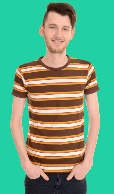 Retro Mod Engineered Striped T Shirt