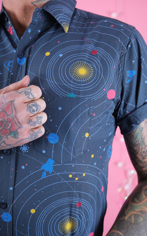 Solar Intergalactic Space Short Sleeve Shirt
