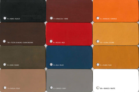 Leather objects colours