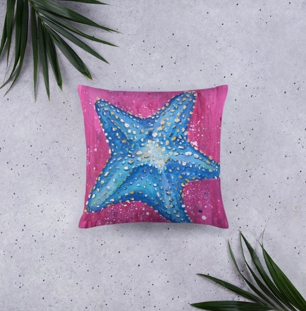 """Starfish""- Throw Pillow"