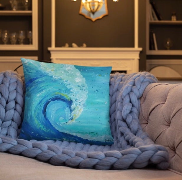"""The Big Wave"" - Throw Pillow"