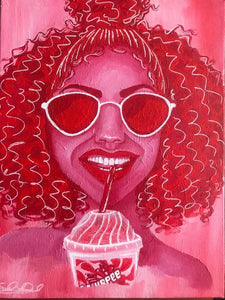 "Fine Art Print ""Hot Girl Collection- Cherry Slurpee"""