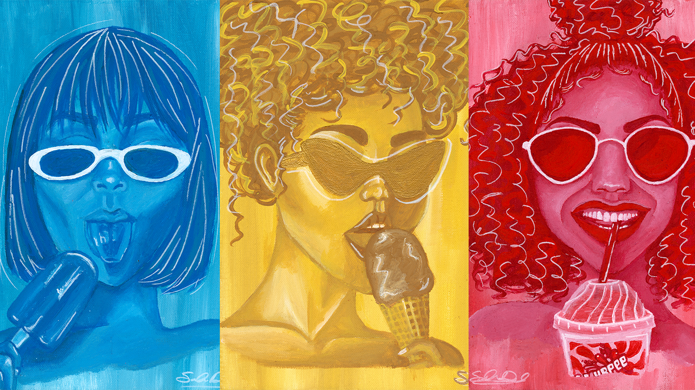 "Fine Art Prints ""Hot Girl Collection-Blueberry Popsicle"""