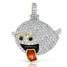 Load image into Gallery viewer, Ghost Emoji 10K Gold 1.50ct Diamonds with Chain