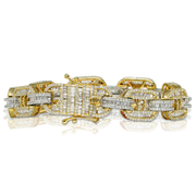 Gucci Link Two Tone 8.90ct Diamond Bracelet