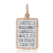 Rose Gold 1.65ct Diamond Block with Chain