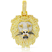 Custom Lion Head 10k Gold 4.35ct with Chain