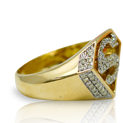 Superman 10K Gold 0.65ct Diamonds Ring