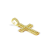 2 Step 1ct Diamond Cross 10K Gold with Chain