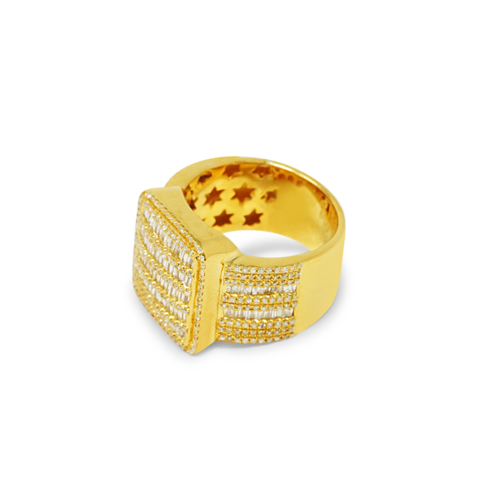 Load image into Gallery viewer, Men's Pinky Ring 10k Gold 1.74ct Diamonds