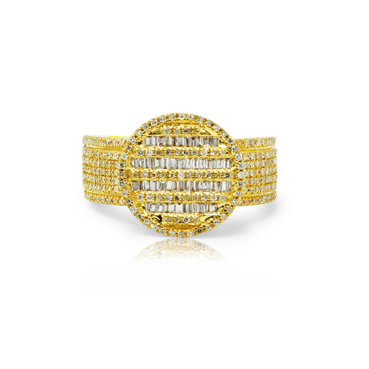 Load image into Gallery viewer, Baguette 1ct Diamond Pinky Ring 10K Gold