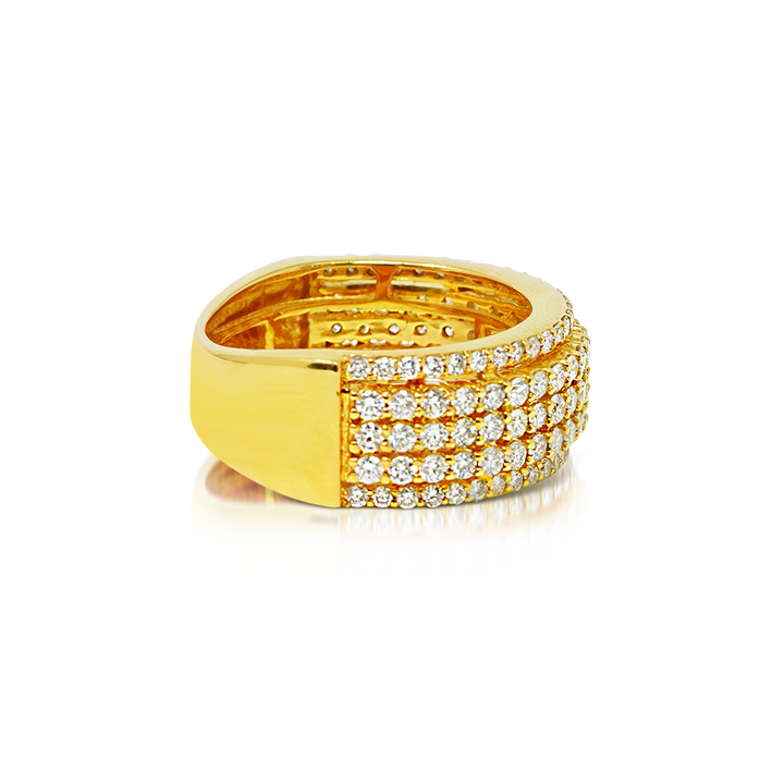 Load image into Gallery viewer, Men's Band 2.25ct Diamonds 10k Gold