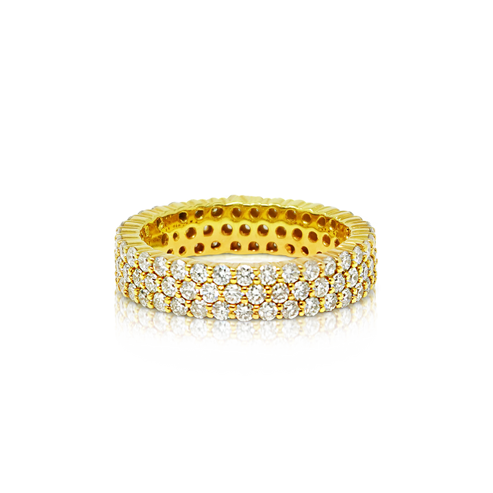 Load image into Gallery viewer, Eternity Band 3.30ct Diamonds 10K Gold