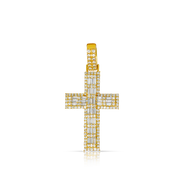 Baguette Diamond Cross 1.50ct with 10K Gold