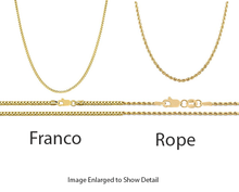 Load image into Gallery viewer, 10K Yellow Gold Round Baguette Cross Pendant with 1.15Ctw
