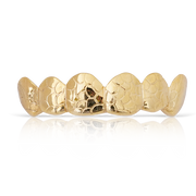 Custom Nugget Style Yellow Gold Grill