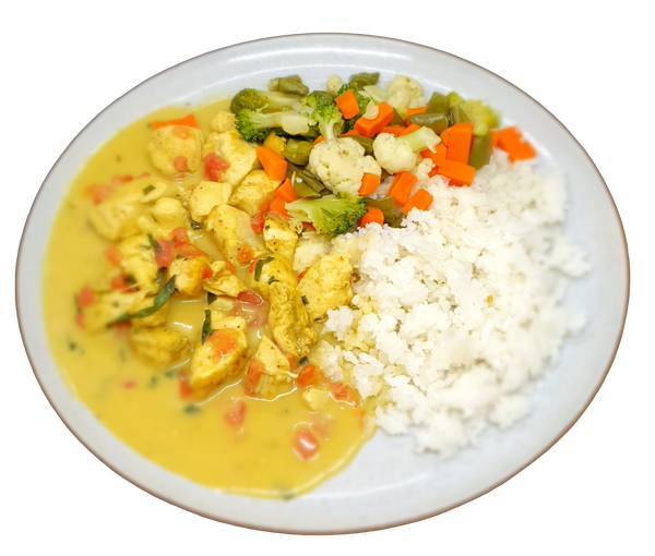 Menú Pollo al Curry