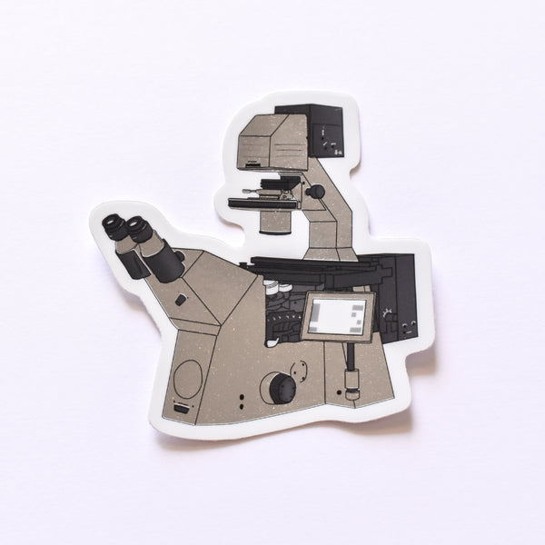 Confocal microscope | chrome science sticker (biology)