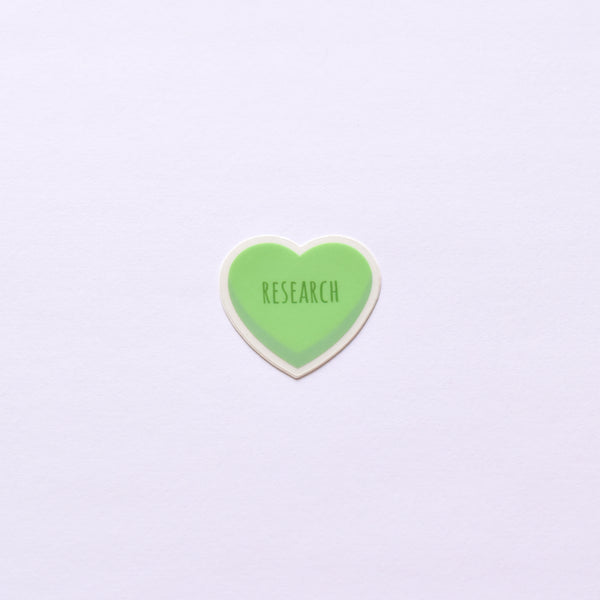 Candy Heart | transparent vinyl science sticker (science, research, chemistry, biology)