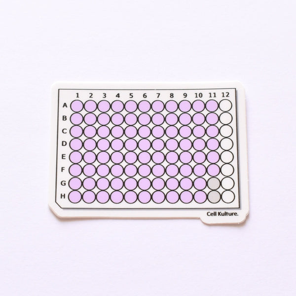 Multiwell cell culture plate | vinyl science sticker (biology)