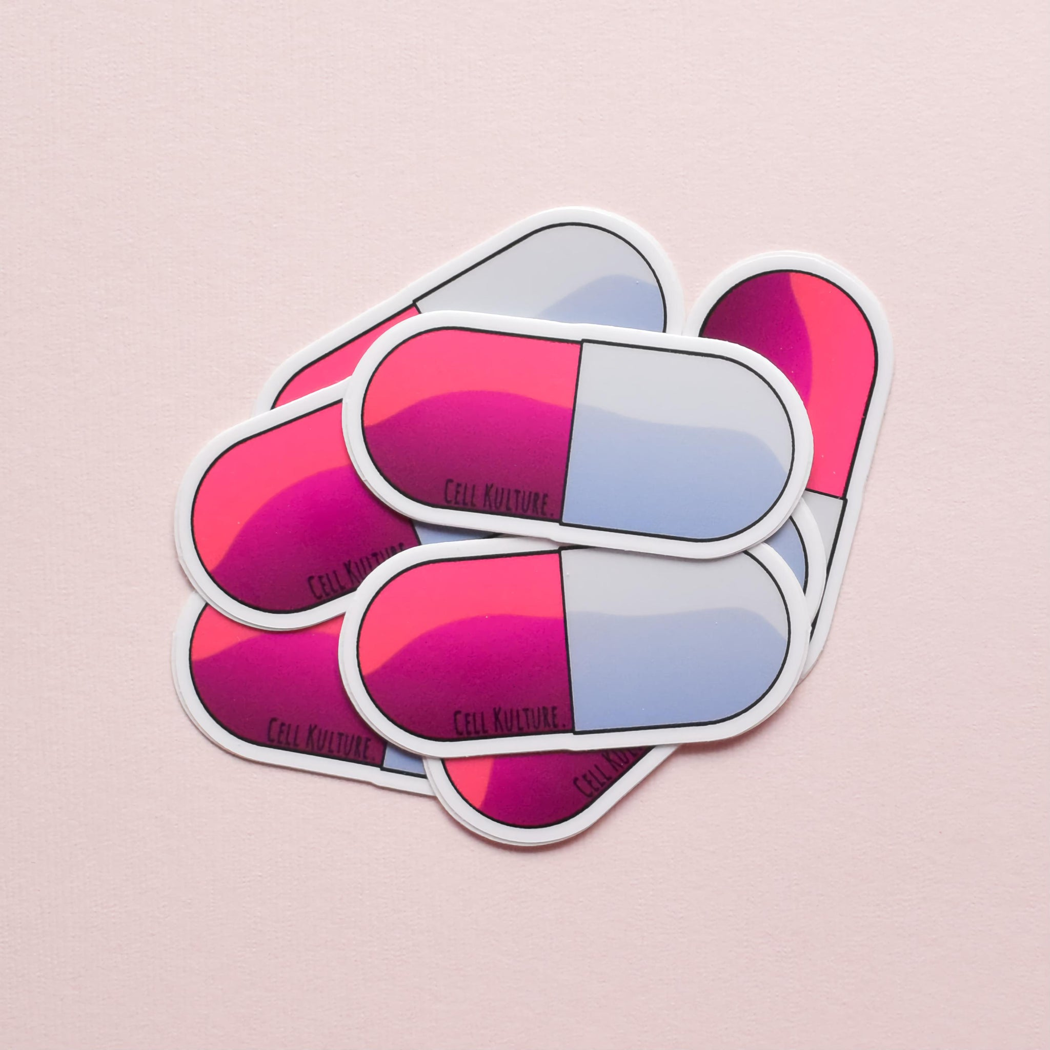 Capsule | vinyl science sticker (medical, nursing)