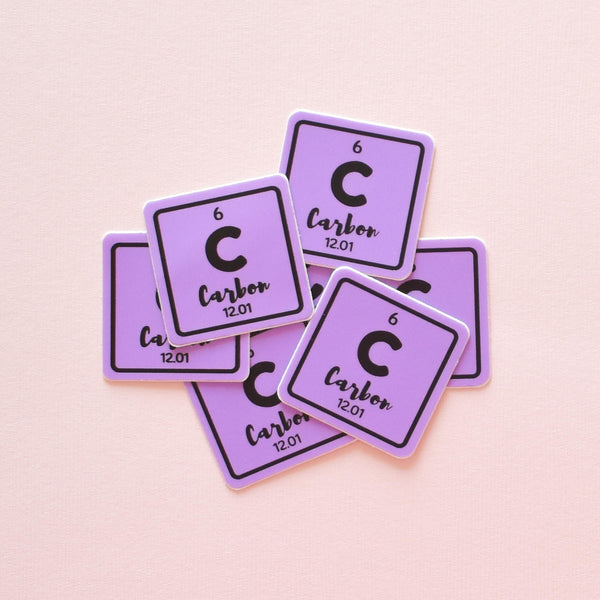 Carbon element | vinyl science sticker (chemistry)