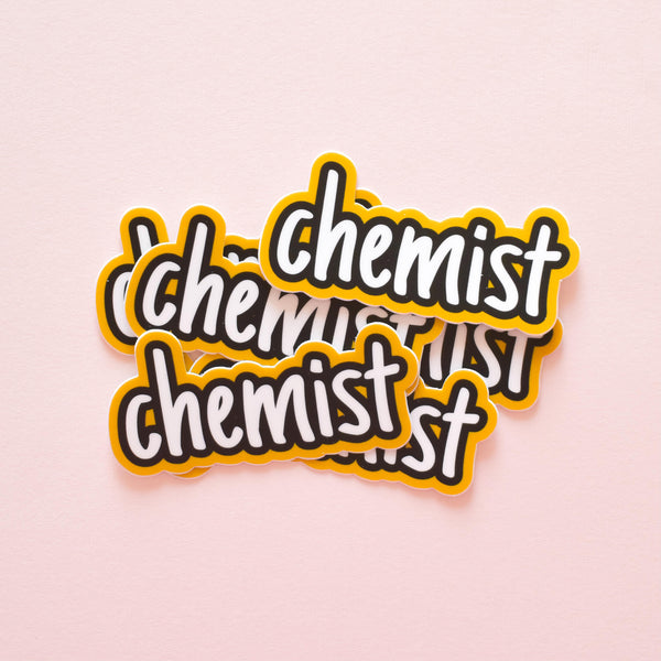 Chemist | vinyl science sticker (chemistry)
