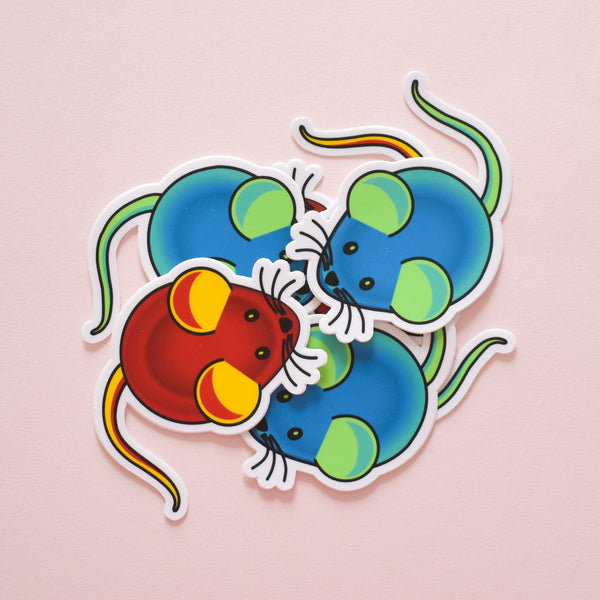 tdTomato mouse | vinyl science sticker (biology)