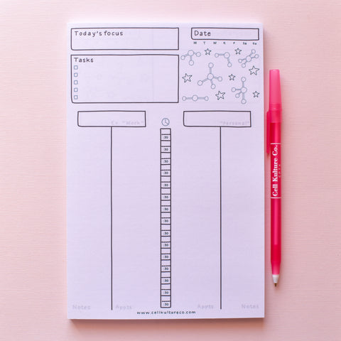 Daily planner pad (STEM)