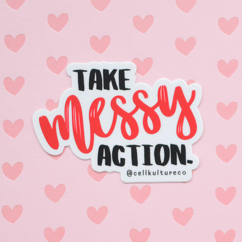 Take messy action | vinyl science sticker (STEM)