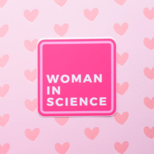Woman in science | vinyl science sticker (STEM)