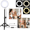 "6"" Dimmable LED Ring Light and Stand Kit"