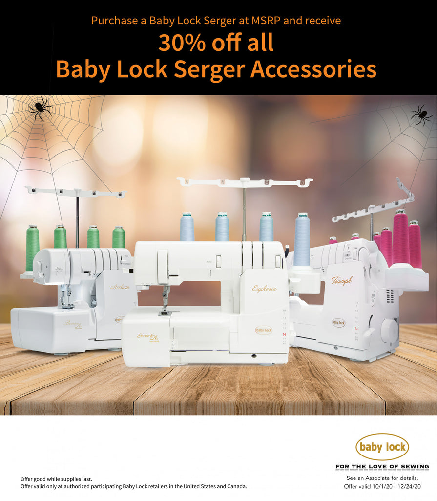 30% Off All Baby Lock Serger Accessories