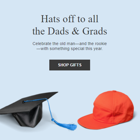 Hats off to all the Dads & Grads